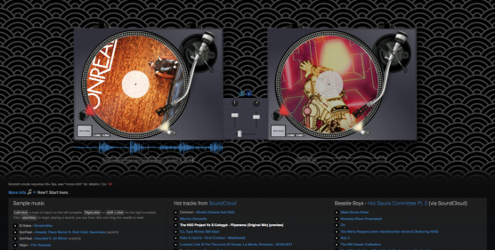 The Wheels Of Steel: Turntables in your browser (a web-based DJ prototype)