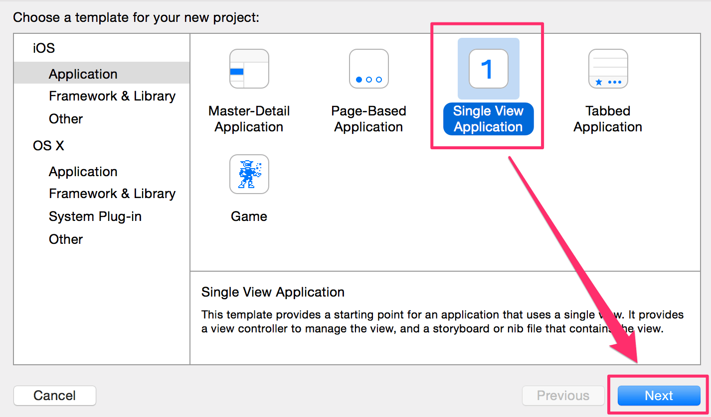 Xcode - Single View Application