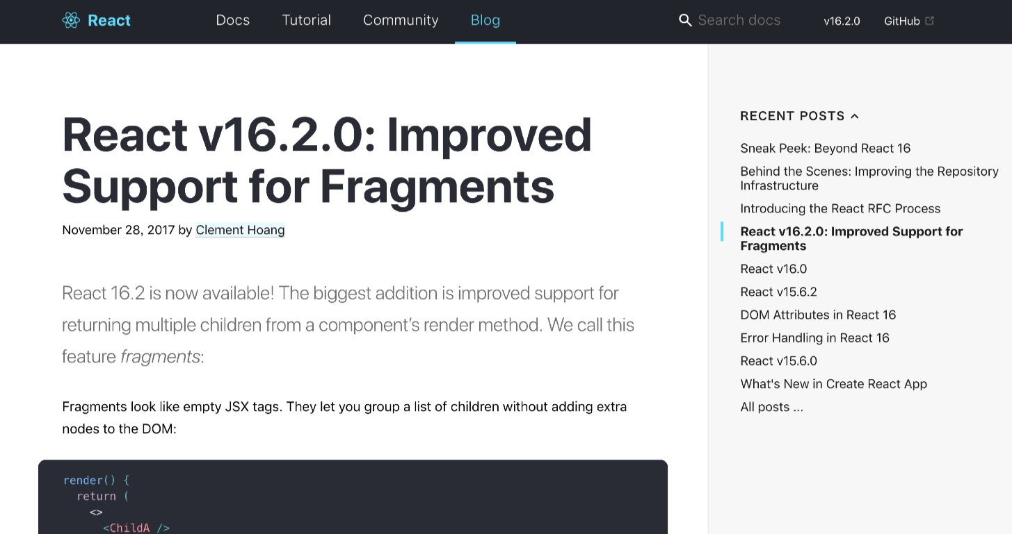 React_v16_2_0 fragments