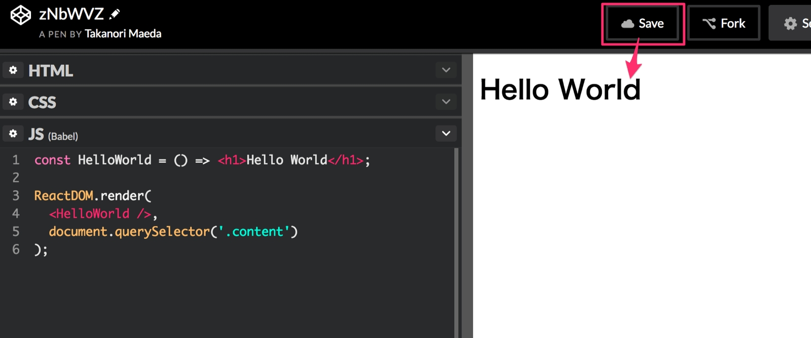 React Hello World